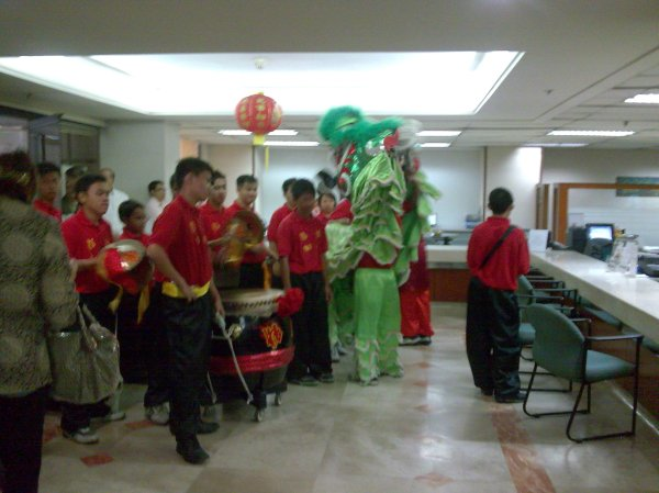 And the Dragon went inside our Main Branch to bring more blessings and fortune.