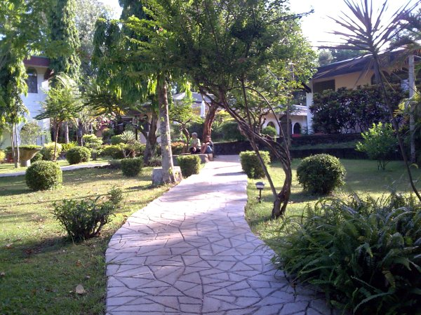 Pathway back to the Center Garden