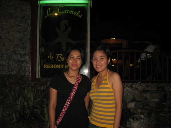 With Janice in front of La Carmela